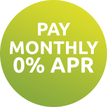 Pay monthly 0% APR